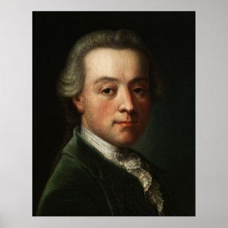 Portrait de Mozart Affiche