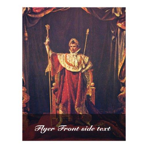 Portrait de napoléon dans des robes longues impéri prospectus en couleur