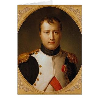 Portrait de napoléon dans l'uniforme carte de vœux