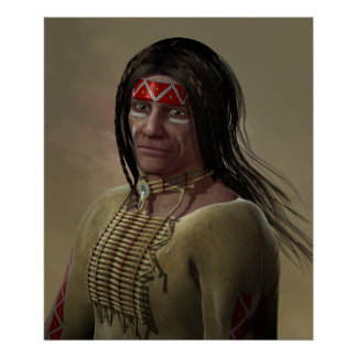 Portrait de Natif américain Posters