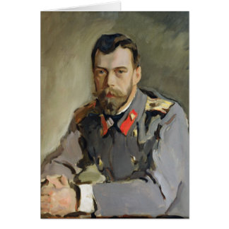 Portrait de Nicholas II, 1900 Carte De Vœux