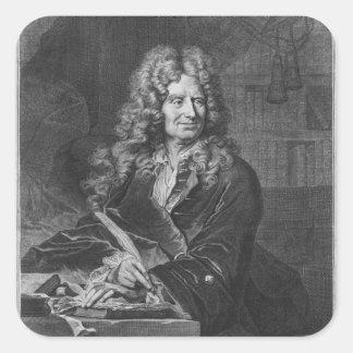 Portrait de Nicolas Boileau Sticker Carré