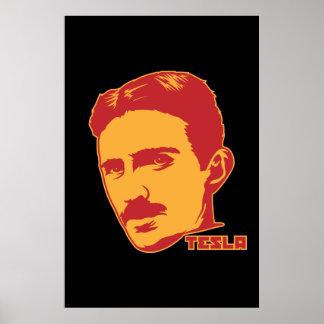 Portrait de Nikola Tesla Poster