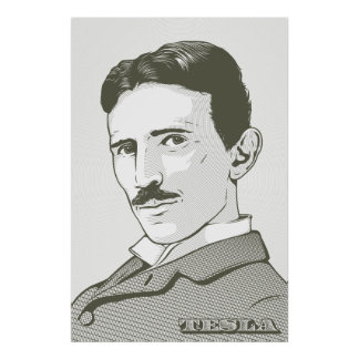 Portrait de Nikola Tesla Posters