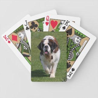 Portrait de photo de chien de St Bernard beau, cad Jeux De 52 Cartes