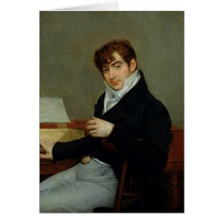 Portrait de Pierre Zimmermann 1808 Carte De Vœux