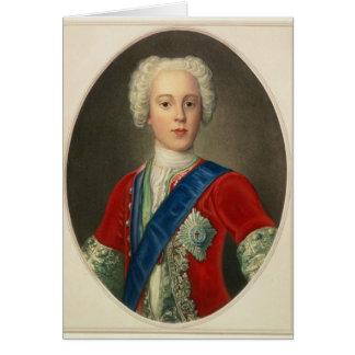 Portrait de prince Charles Edouard Carte De Vœux