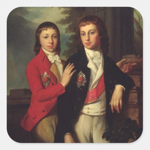 Portrait de prince grand août d'Oldenbourg Stickers Carrés