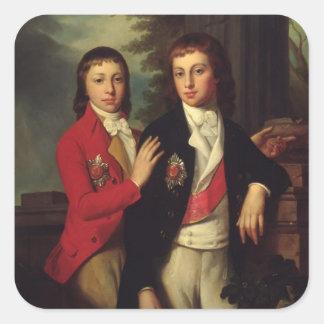 Portrait de prince grand août d'Oldenbourg Sticker Carré