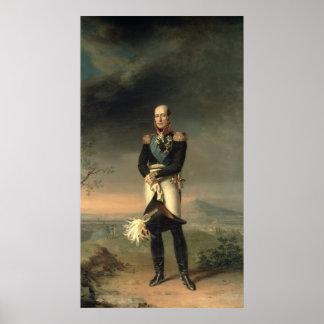 Portrait de prince Mikhail Barclay de Tolly Poster