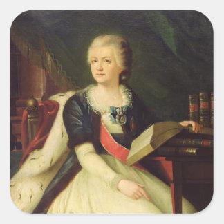 Portrait de princesse Yekaterina R Sticker Carré