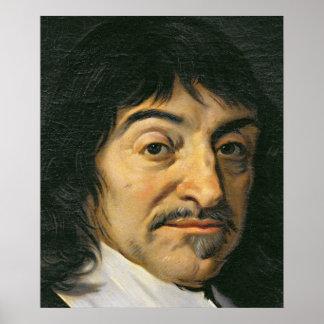 Portrait de Rene Descartes c.1649 Posters