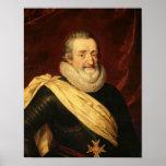 Portrait de roi de Henri IV de la France Affiches
