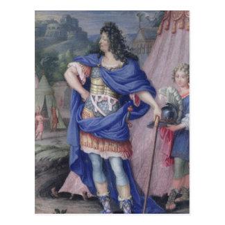 Portrait de roi de Louis XIV de la France Carte Postale