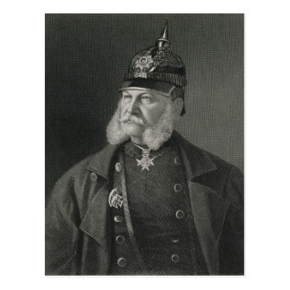 Portrait de roi de William I de la Prusse Carte Postale