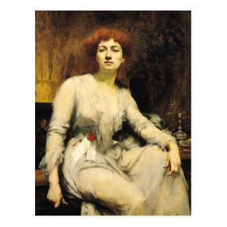 Portrait de Severine 1893 Cartes Postales