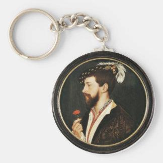 Portrait de Simon George des Cornouailles Tondo Porte-clés