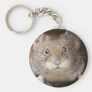 Portrait de souris porte-clé rond