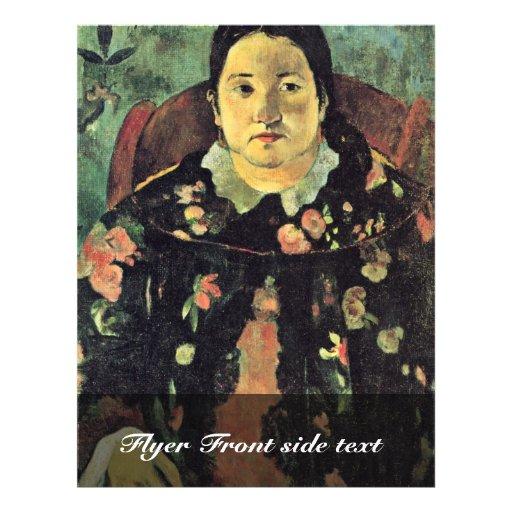 Portrait de Suzanne Bambridge par Gauguin Paul Tract Customisé