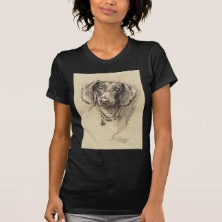 Portrait de teckel t-shirt
