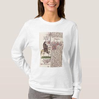 Portrait de télécopie de Geoffrey Chaucer de T-shirt