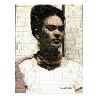 Portrait de textile de Frida Kahlo Carte Postale