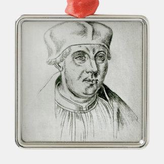 Portrait de Thomas Wolsey, cardinal de York Ornement Carré Argenté