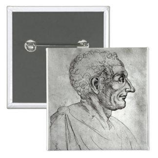 Portrait de Titus Livius connu sous le nom de Livy Badge Carré 5 Cm