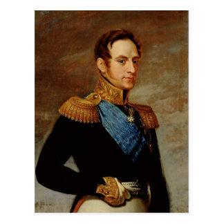 Portrait de tsar Nicholas I 1826 Carte Postale