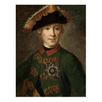 Portrait de tsar Peter III Carte Postale