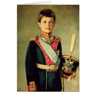 Portrait de Tsarevitch Alexei Nikolaevich ; Carte De Vœux