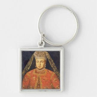 Portrait de tsarine Marfa Matveyevna Porte-clé Carré Argenté