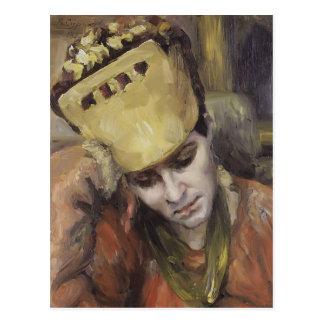 Portrait de Vasily Surikov- de femme avec le Carte Postale