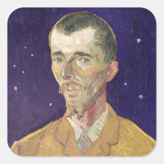 Portrait de Vincent van Gogh | d'Eugene Boch 1888 Sticker Carré