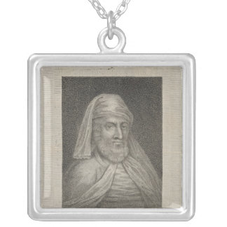 Portrait de William Caxton et de son imprimante Pendentif Carré