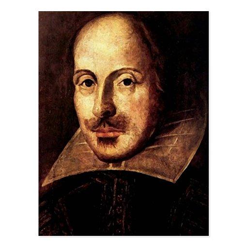 Portrait de William Shakespeare Carte Postale