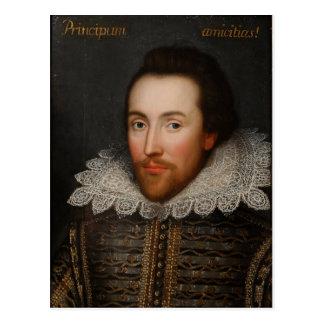 Portrait de William Shakespeare Cobbe circa 1610 Carte Postale
