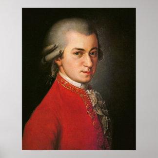 Portrait de Wolfgang Amadeus Mozart Affiche