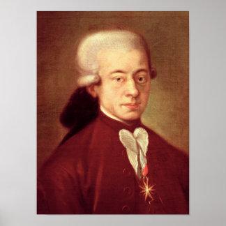 Portrait de Wolfgang Amadeus Mozart après 1770 Posters