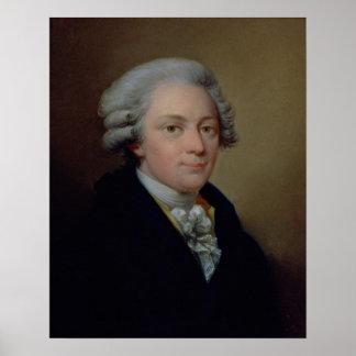 Portrait de Wolfgang Amadeus Mozart Affiches