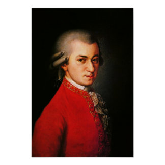 Portrait de Wolfgang Amadeus Mozart Posters