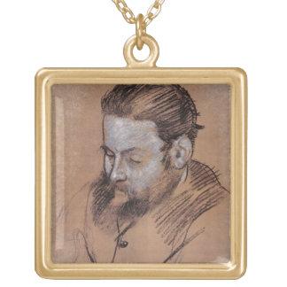 Portrait d'Edgar Degas   de Diego Martelli Collier Plaqué Or