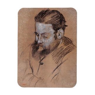 Portrait d'Edgar Degas | de Diego Martelli Magnet En Vinyle