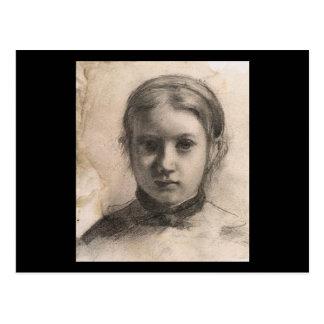 Portrait d'Edgar Degas de Giovannina Bellelli Carte Postale