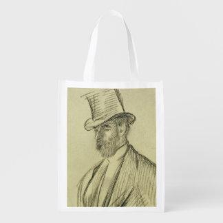 Portrait d'Edgar Degas | de Ludovic Halevy Sac Réutilisable