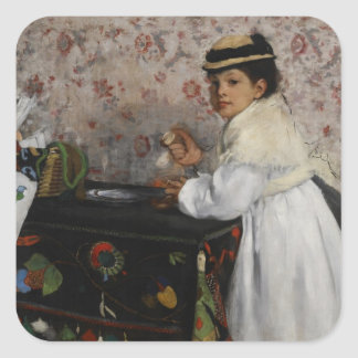 Portrait d'Edgar Degas   de Mlle. Hortense Sticker Carré