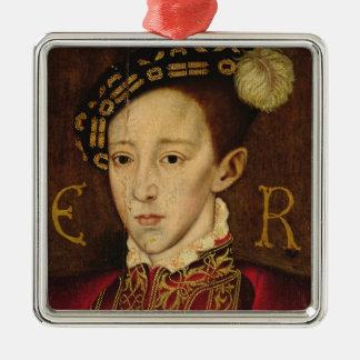 Portrait d'Edouard VI Ornement Carré Argenté