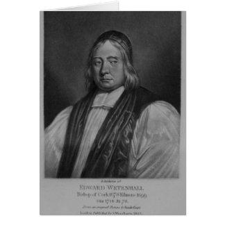 Portrait d'Edouard Wetenhall Carte De Vœux
