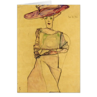 Portrait d'Egon Schiele- de Madame Dr. Horak Carte De Vœux