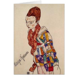 Portrait d'Egon Schiele- de Marga Boerner Carte De Vœux